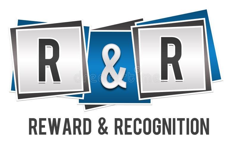 Bleu Grey Blocks de récompense et de reconnaissance illustration stock