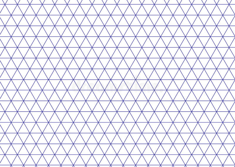 Bleu isométrique de grille Ligne vecteur de triangle de fond illustration libre de droits
