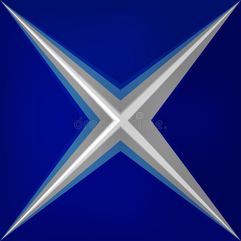 Bleu lumineux de triangles abstraites de la géométrie de vecteur illustration stock