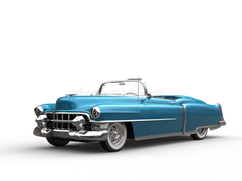 Bleu métallique automobile de vintage frais illustration libre de droits
