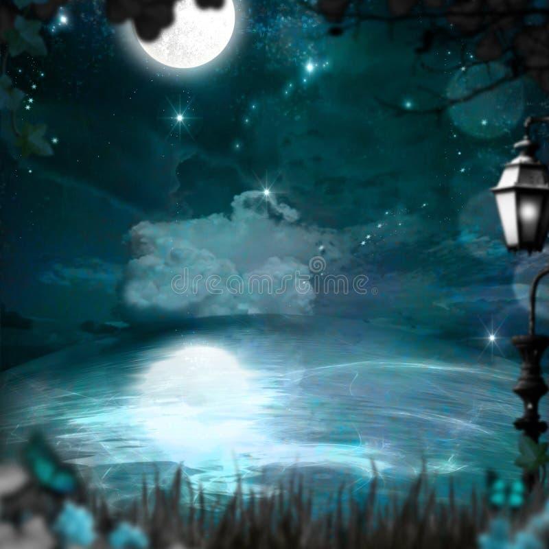 Bleu magique photos stock