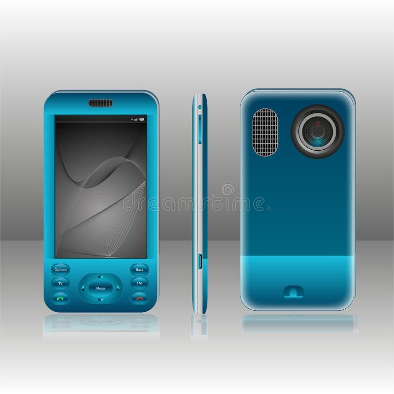 Bleu mobile illustration libre de droits