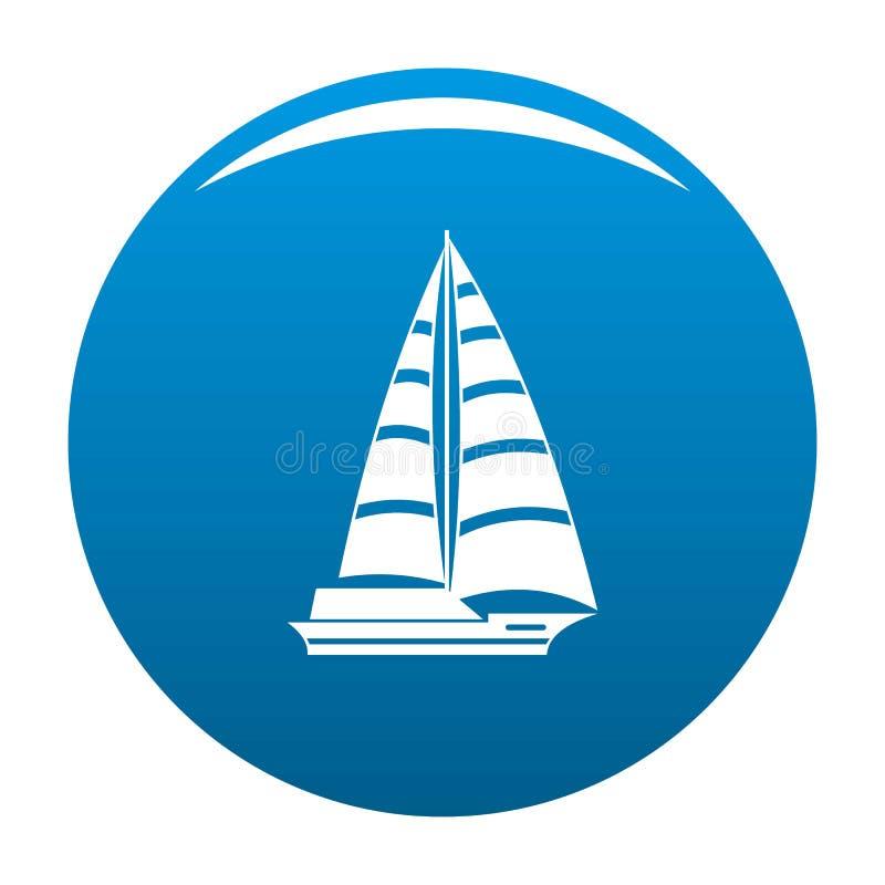 Bleu moderne d'icône de yacht illustration stock