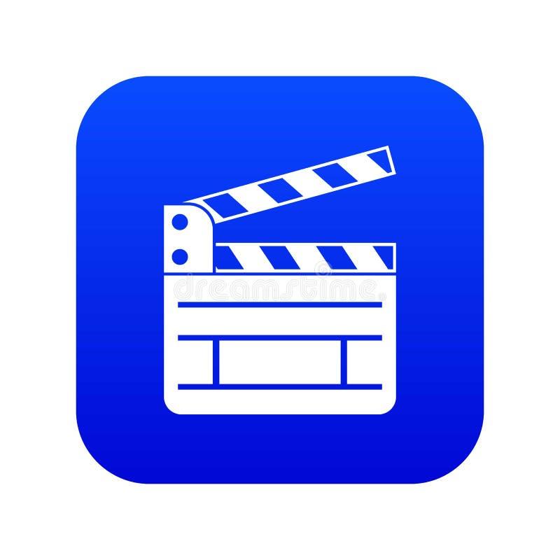 Bleu numérique d'icône de claquette illustration libre de droits