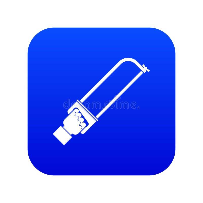 Bleu numérique d'icône d'outil de spatule de participation de main illustration stock