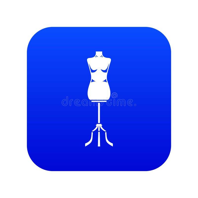 Bleu num?rique de couture d'ic?ne de mannequin illustration libre de droits