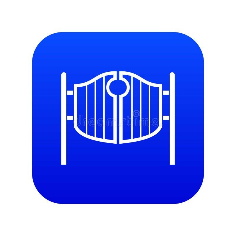 Bleu numérique de oscillation occidental d'icône de portes de salle de cru illustration de vecteur