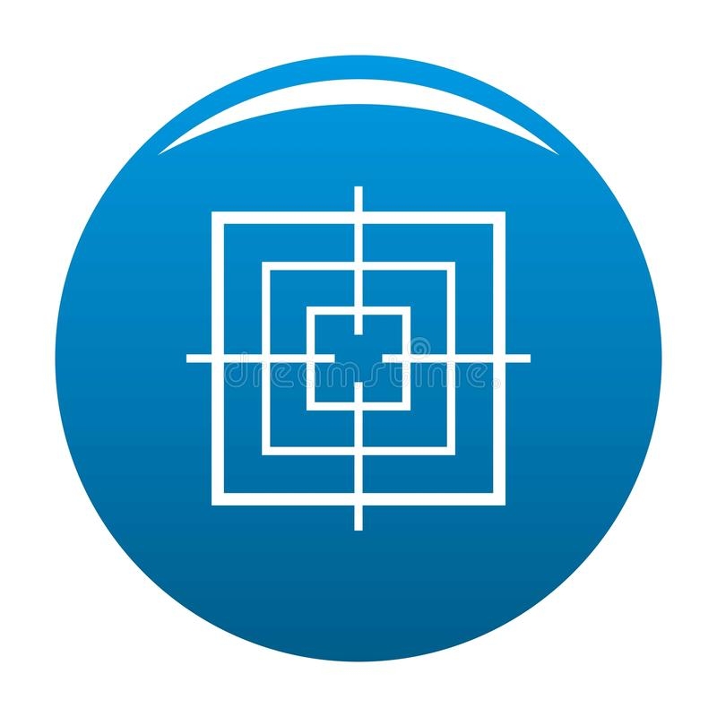 Bleu objectif carré d'icône illustration libre de droits
