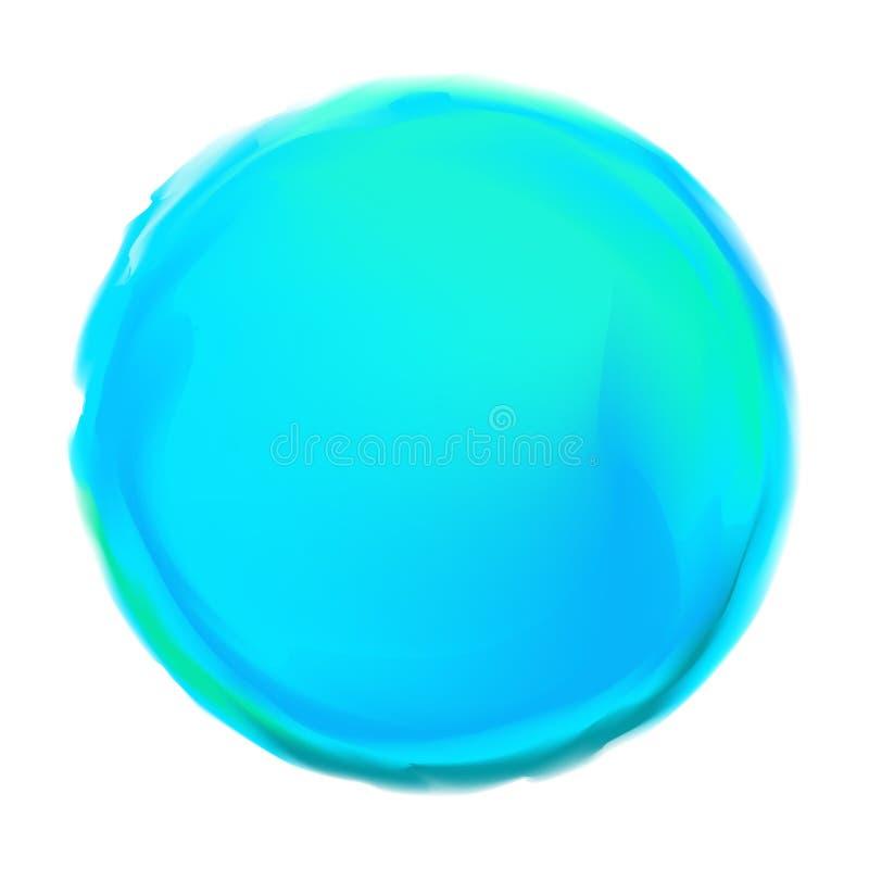 Bleu peint autour du fond illustration libre de droits