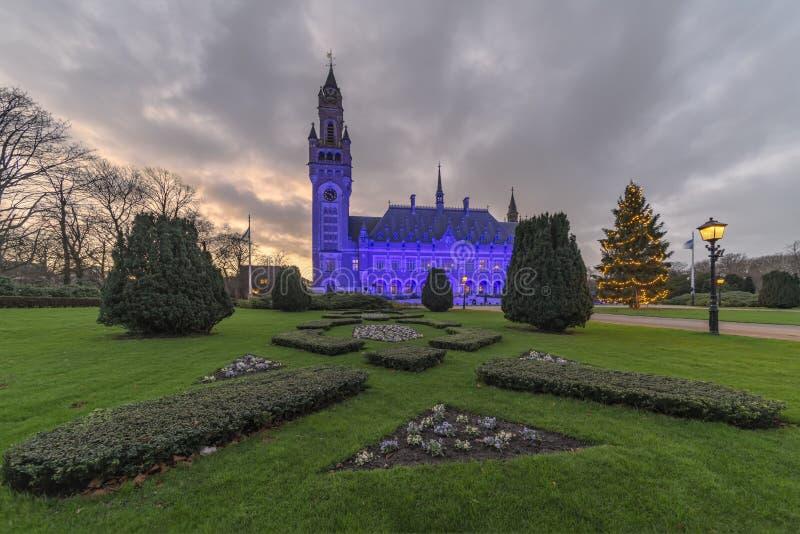 Bleu pour le jour 2018 de droits de l'homme photos stock