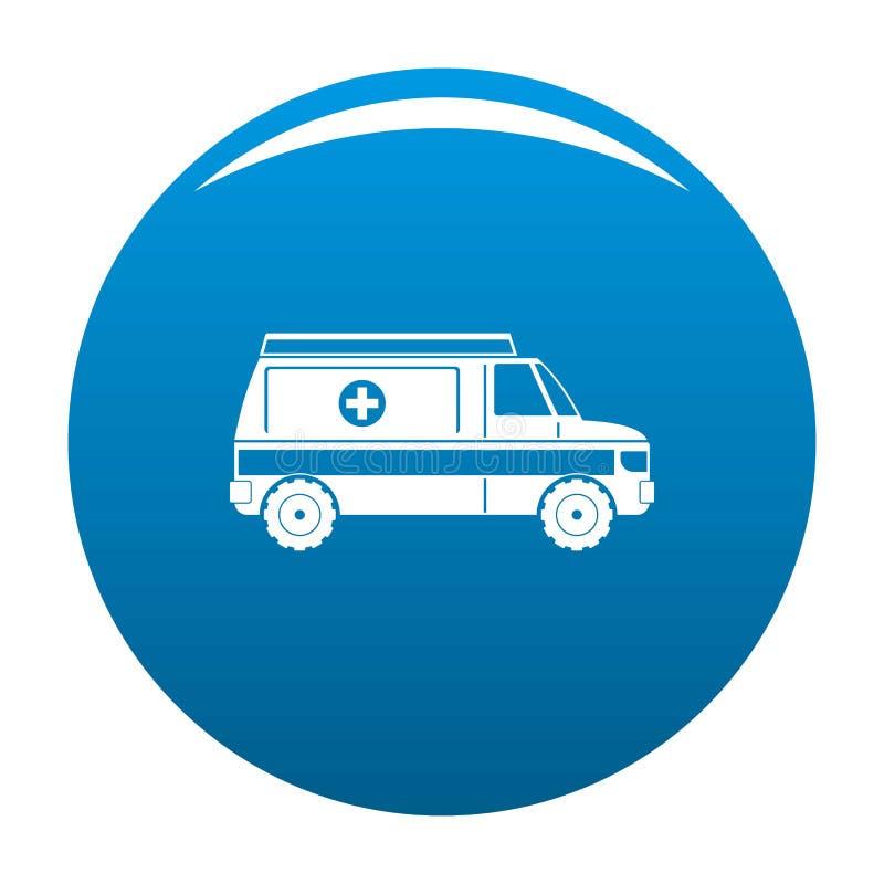 Bleu rapide d'icône d'ambulance illustration stock
