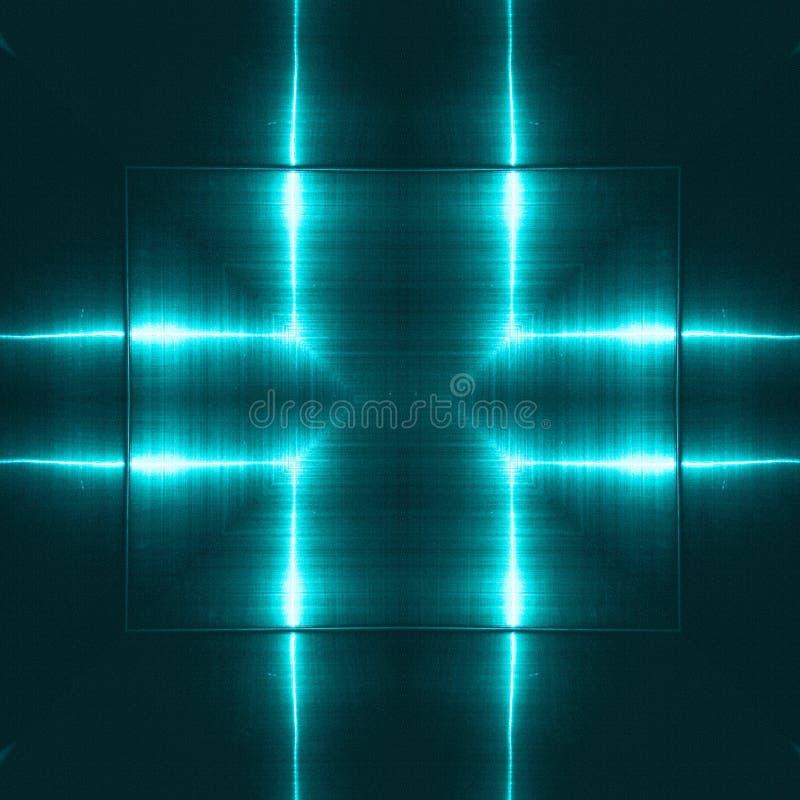 Bleu reflétant la surface métallique Texture et fond technologiques Concept d'industrie photos libres de droits