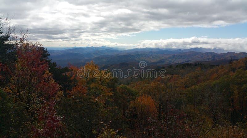 Bleu Ridge Parkway Mountains d'Asheville images libres de droits