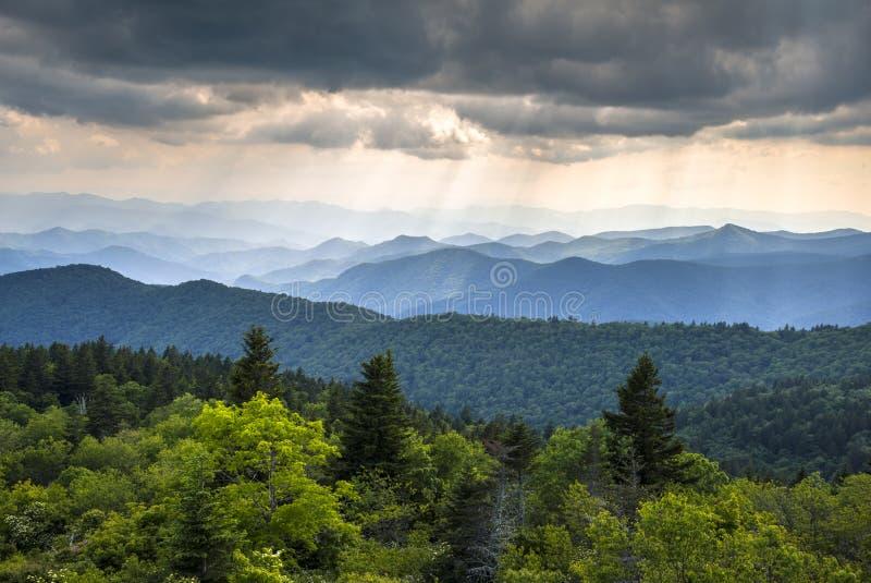 Bleu Ridge Parkway Western North Carolina des Appalaches photographie stock libre de droits