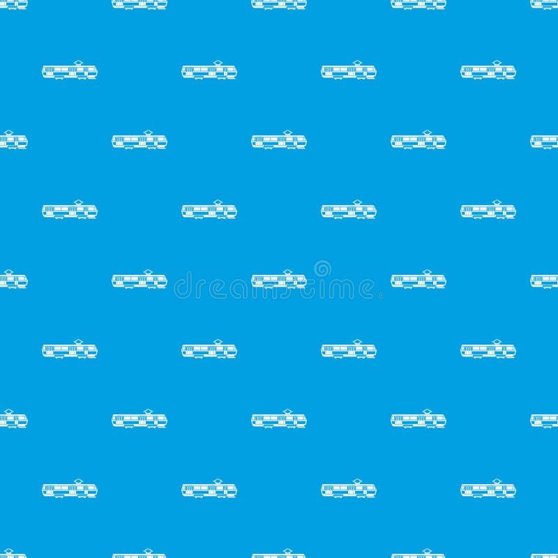 Bleu sans couture de modèle de tram illustration stock