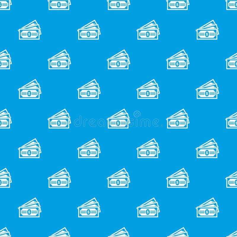 Bleu sans couture de modèle de trois billets d'un dollar illustration libre de droits