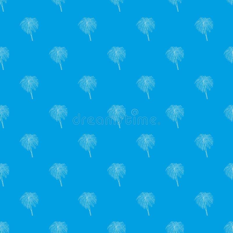 Bleu sans couture de vecteur de modèle du feu du Bengale illustration de vecteur