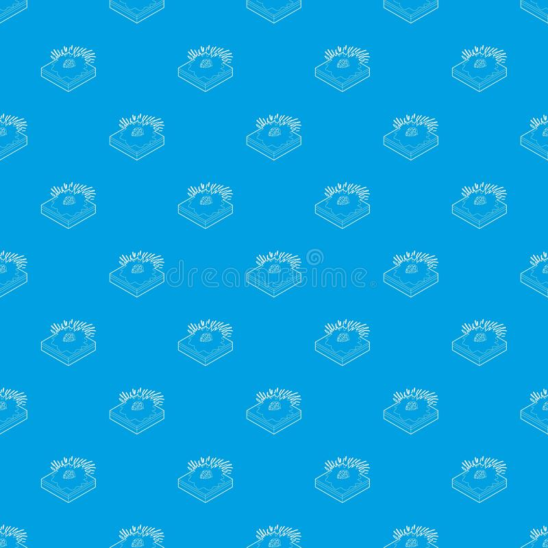 Bleu sans couture en baisse de vecteur de modèle de météore illustration de vecteur