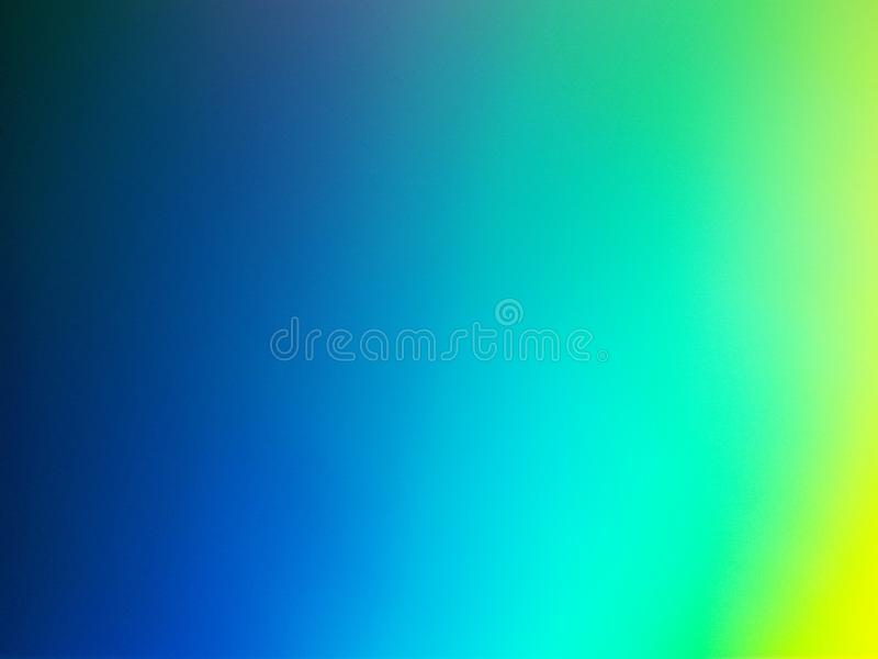 Bleu, turquoise et fond de Gradiented de jaune photo stock