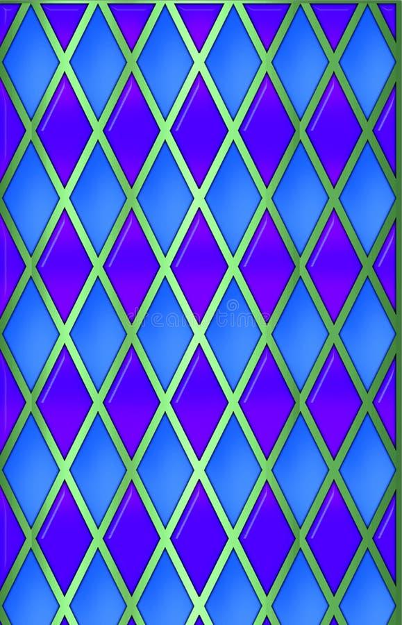 Bleu/vert/harliquin pourpré illustration de vecteur