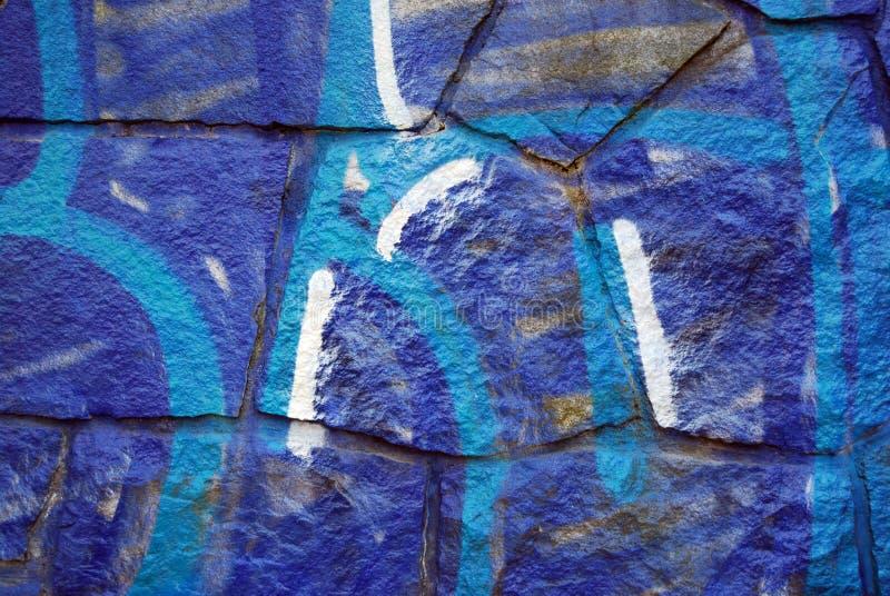 bleue γκράφιτι στοκ φωτογραφία