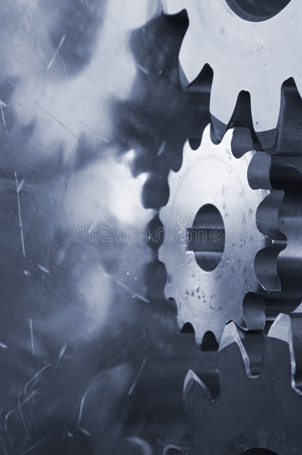 Bleue profile of gears royalty free stock images