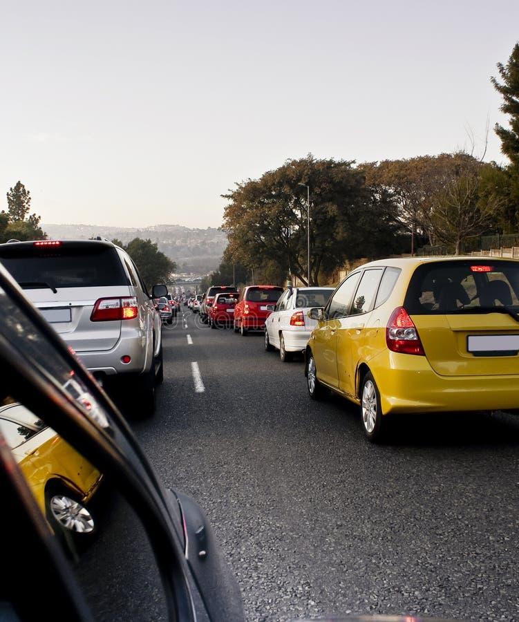 Bleus d'embouteillage de matin image libre de droits