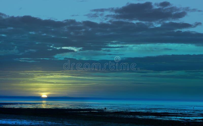 Bleus de coucher du soleil image libre de droits