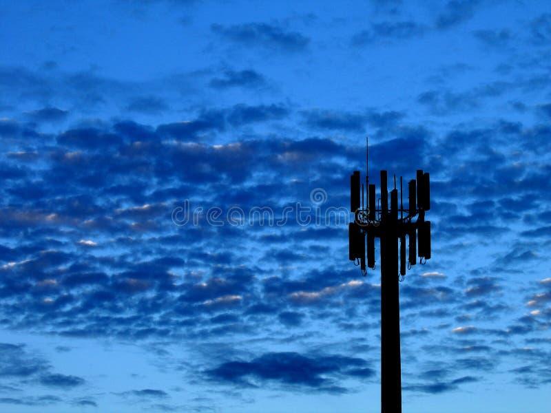 Bleus de transmission image stock