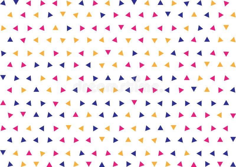 Bleus géométriques sans couture, le rose et les triangles jaunes modèlent le fond illustration stock