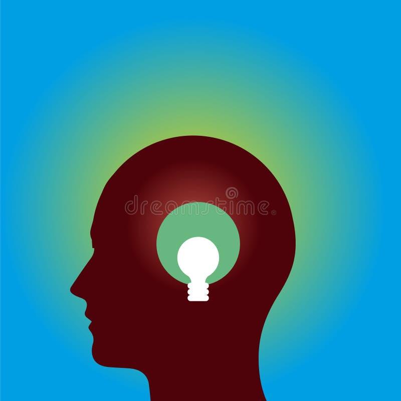 Bleus principaux d'icône d'idées d'ampoule photographie stock libre de droits