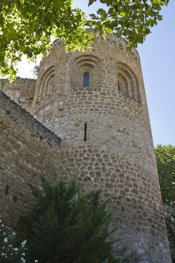 blev feodalt för bermejaslott som stärktes som lords mer krigare för slottpiedra s xii XII blev den stärkte slotten av fejd fotografering för bildbyråer