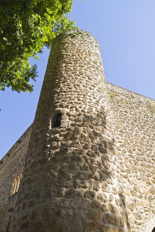 blev feodalt för bermejaslott som stärktes som lords mer krigare för slottpiedra s xii XII blev den stärkte slotten av fejd royaltyfri bild