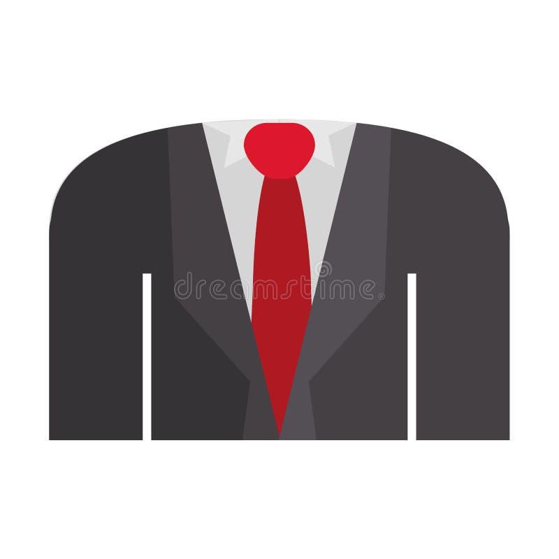 Blezer formalny z koszulowym krawatem royalty ilustracja