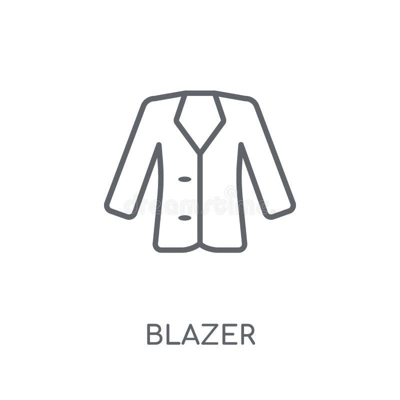 Blezer liniowa ikona Nowożytny konturu blezeru logo pojęcie na bielu royalty ilustracja