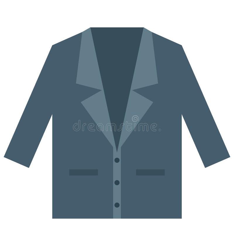 Blezer, odziewa Odosobnioną Wektorową ikonę która może łatwo redaguje lub modyfikująca Blezer, odziewa Odosobnioną Wektorową ikon royalty ilustracja