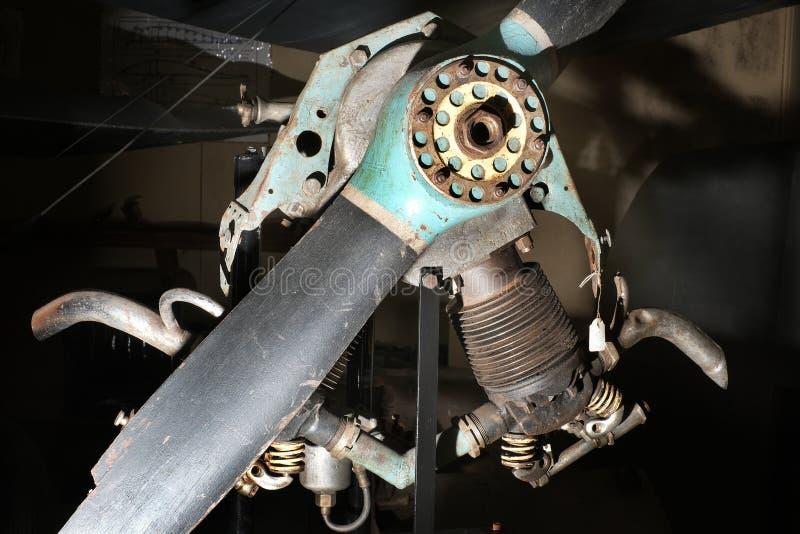 Bliźniaczej butli samolotu wczesny silnik fotografia stock