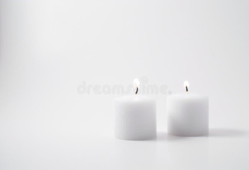 bliźniacze świece. fotografia royalty free