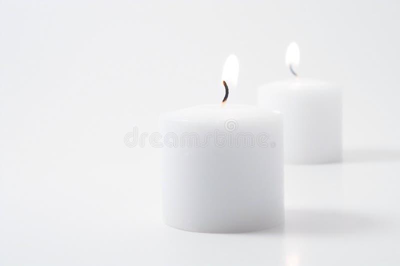 bliźniacze świece. zdjęcie royalty free