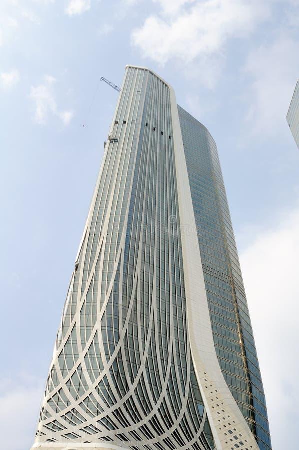 Bliźniacze Wieże Nanjing zielony Olimpijski centrum zdjęcie royalty free