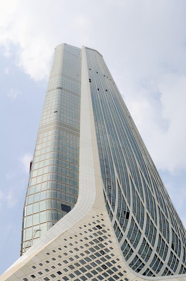 Bliźniacze Wieże Nanjing zielony Olimpijski centrum obrazy royalty free