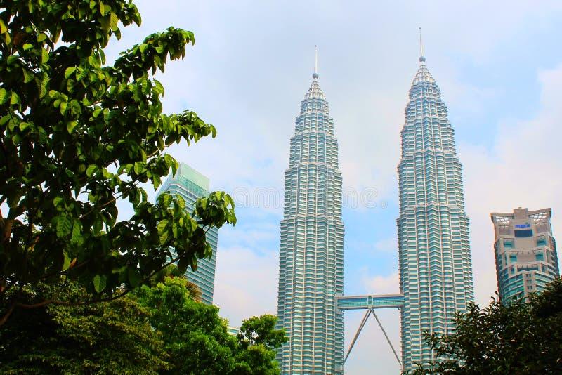 Bliźniacze Wieże w Kuala Lumpur, Malezja obrazy royalty free