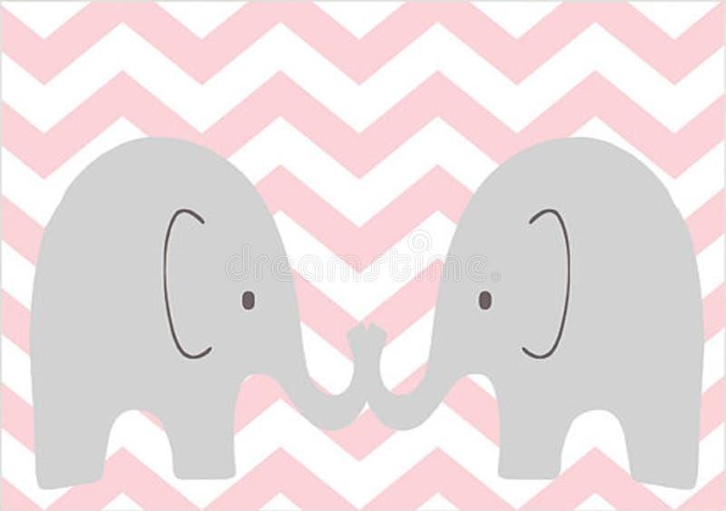 Bliźniaczy słonie royalty ilustracja