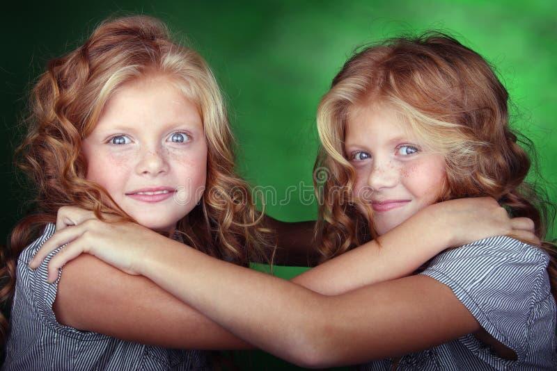 bliźniak dziewczyny target2015_1_ portreta innego bliźniaka obraz royalty free