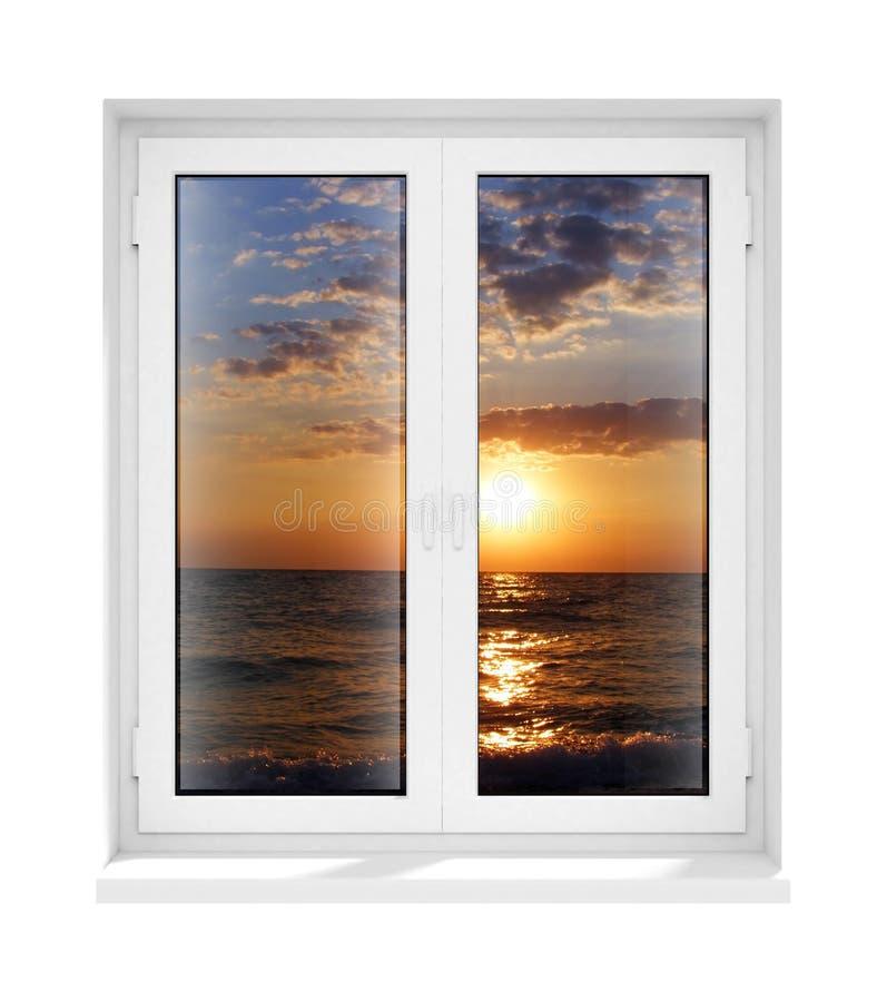 bliżej ramowego pojedynczy nowego tworzywa okulary okno ilustracji
