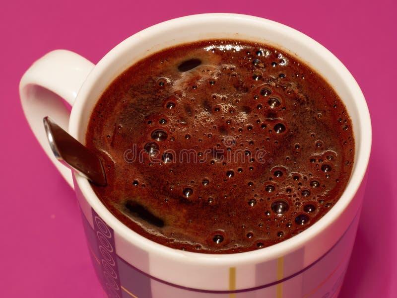 Bliższy widok piany kawy fotografia stock