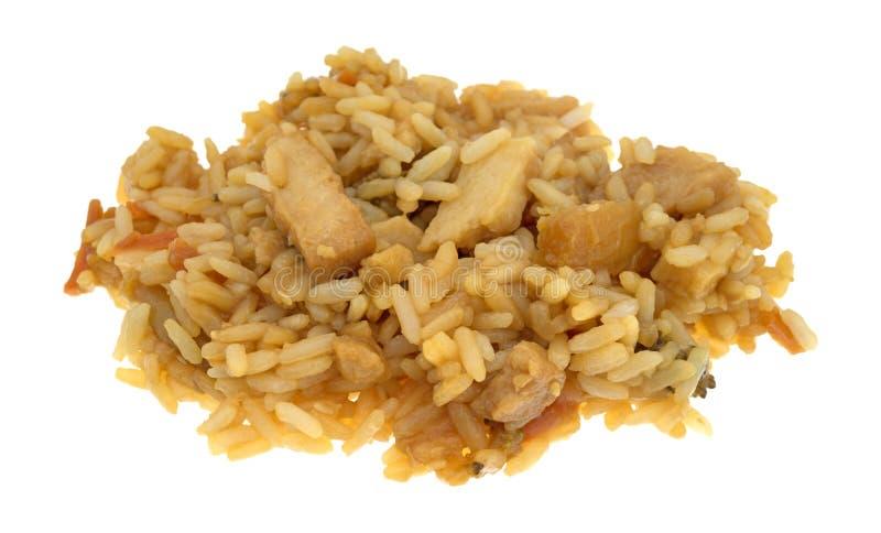 Bli rädd i en sås med ris och veggies arkivbild