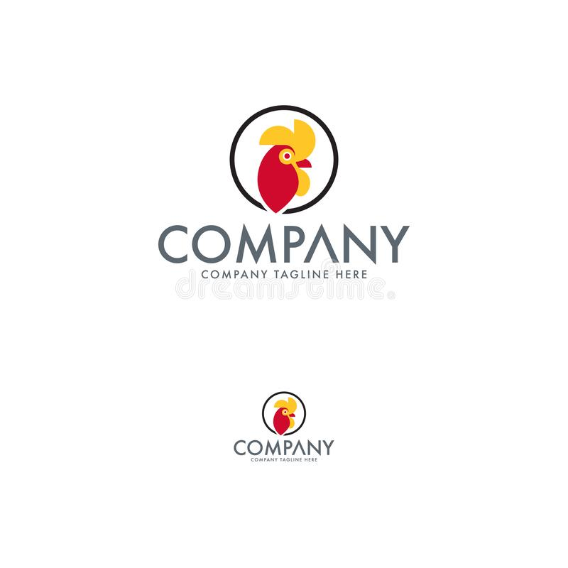 Bli rädd och resa upp Logo Design Template stock illustrationer