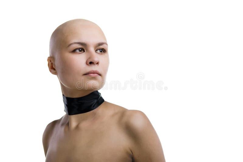 bli skallig färdigt flickan arkivbild
