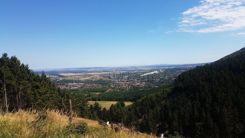 Blick auf Goslar vom Rammelsberg zdjęcie royalty free